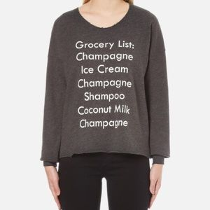 Wildfox Grocery List Sweatshirt